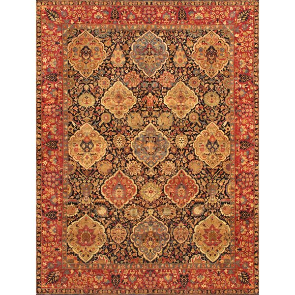 Kerman Hand-Knotted Navy Area Rug by Pasargad