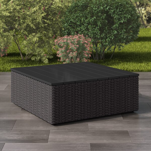 Costanzo Weather Resistant Resin Wicker Coffee Table by Rosecliff Heights