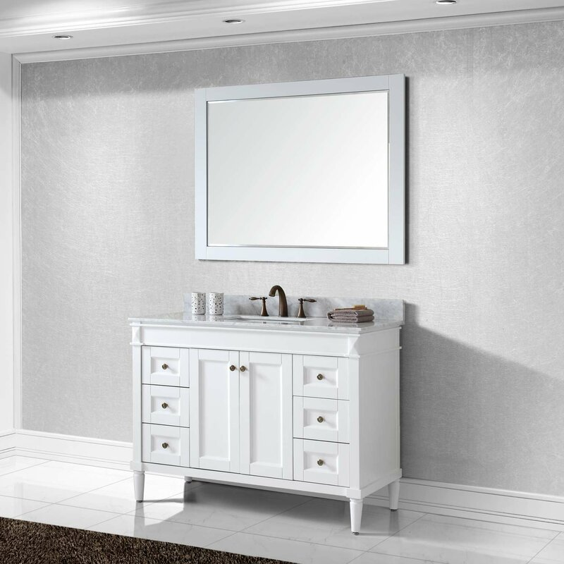 Virtu USA Tiffany Single Bathroom Vanity Set Reviews Wayfair - Bathroom vanities birmingham al