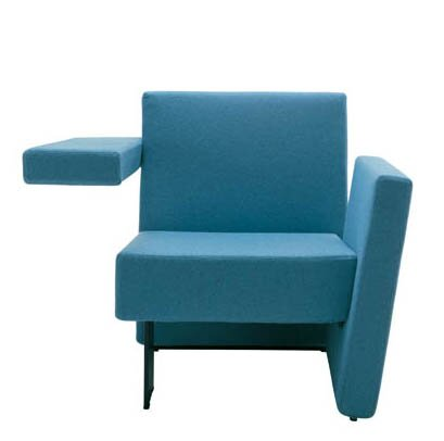 Meet Me Vertical Arm Right and Horizontal Arm Left Guest Chair by Segis U.S.A