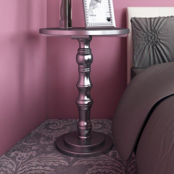 Sadie Solid Wood Pedestal End Table by Willa Arlo Interiors Willa Arlo Interiors