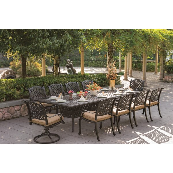 Lincolnville 11 Piece Dining Set with Cushions by Fleur De Lis Living