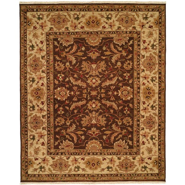 Tianjin Hand-Woven Brown/Beige Area Rug by Meridian Rugmakers