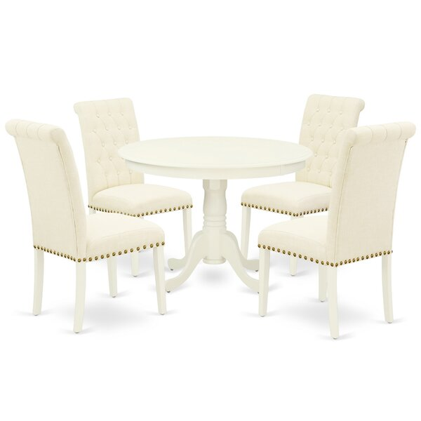Felipe 5 Piece Solid Wood Dining Set by One Allium Way One Allium Way