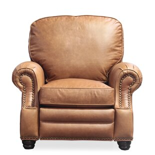 Kevan Leather Recliner Canora Grey