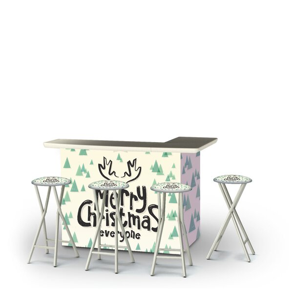 Yvet Merry Christmas Everyone 5-Piece Bar Set by East Urban Home