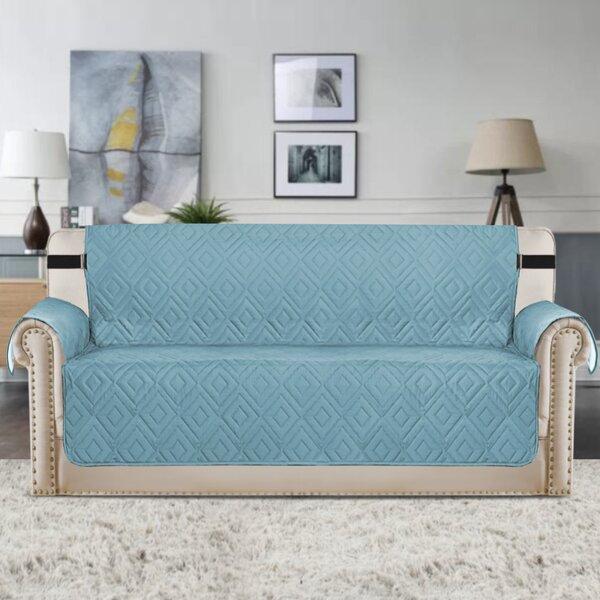 Upgraded Water Repellent Diamond Box Cushion Sofa Slipcover by Winston Porter