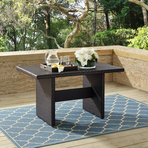 Keyshawn Rattan Coffee Table by Bay Isle Home