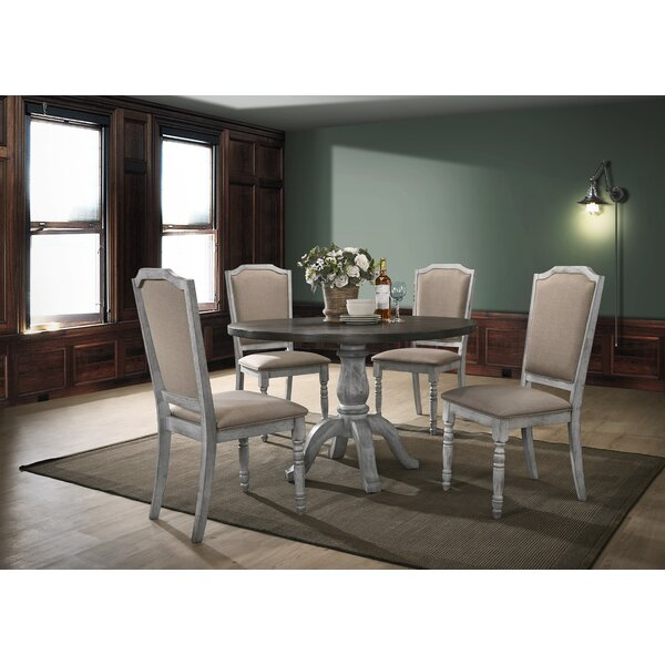 Mariposa 5 Piece Solid Wood Dining Set by Ophelia & Co.