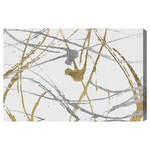 'Precious Metals' Graphic Art on Wrapped Canvas by Willa Arlo Interiors
