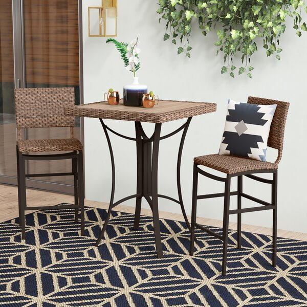 Katzer 3 Piece Bar Height Dining Set By Brayden Studio by Brayden Studio Coupon