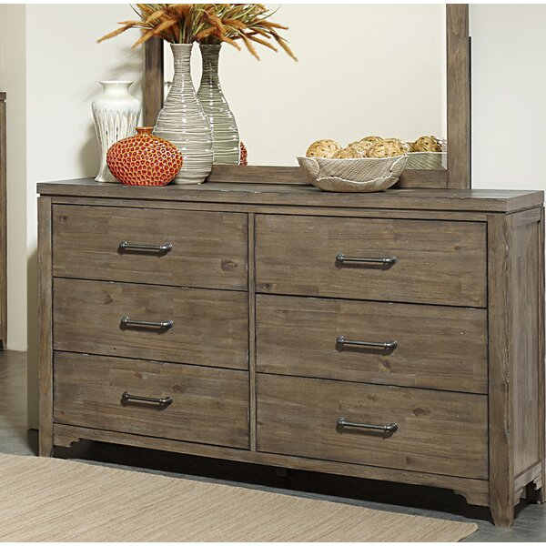 #1 Saucedo 6 Drawer Double Dresser By Union Rustic Today Sale Only