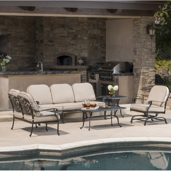 Dunnes Sunbrella Deep Seating Group with Cushion by Darby Home Co