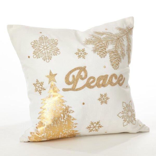 Donnelou Cotton Throw Pillow by Saro