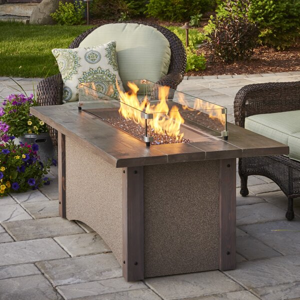 Pine Ridge Concrete Gas Fire Pit Table by The Outdoor GreatRoom Company