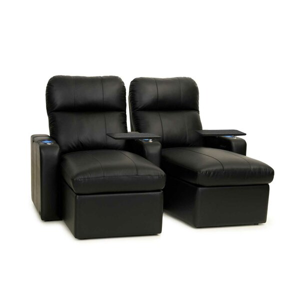Power Recline Leather Home Theater Loveseat (Row of 2) (Set of 2) by Red Barrel Studio