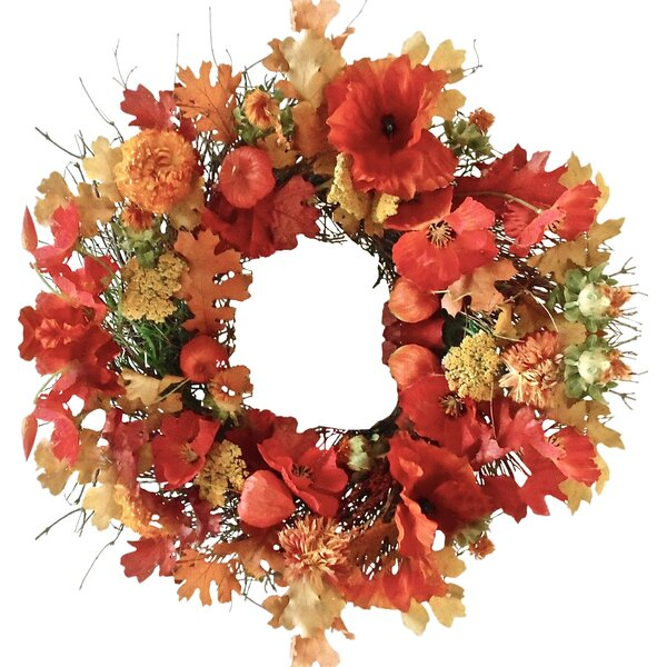 Opulent Poppy Wreath by Dried Flowers and Wreaths LLC
