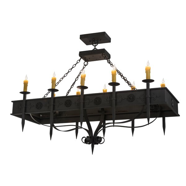Brisco 1 - Light Candle Style Rectangle Chandelier By 17 Stories