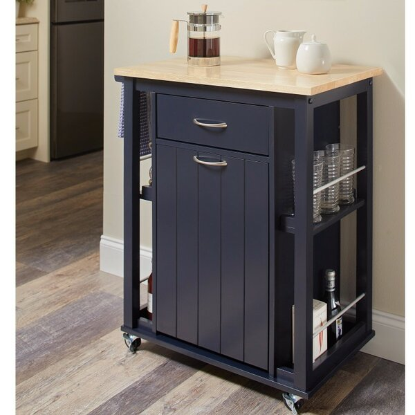 Delray Kitchen Cart with Casters by Highland Dunes