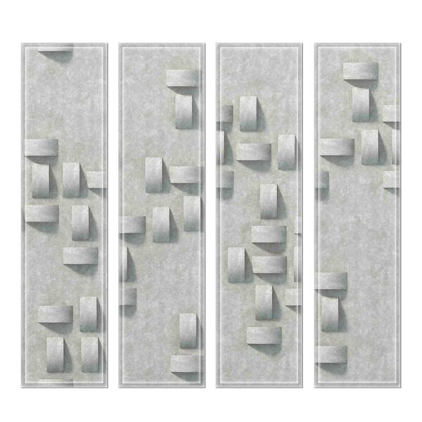 Custom 3 x 12 Beveled Glass Subway Tile in Gray by Upscale Designs by EMA