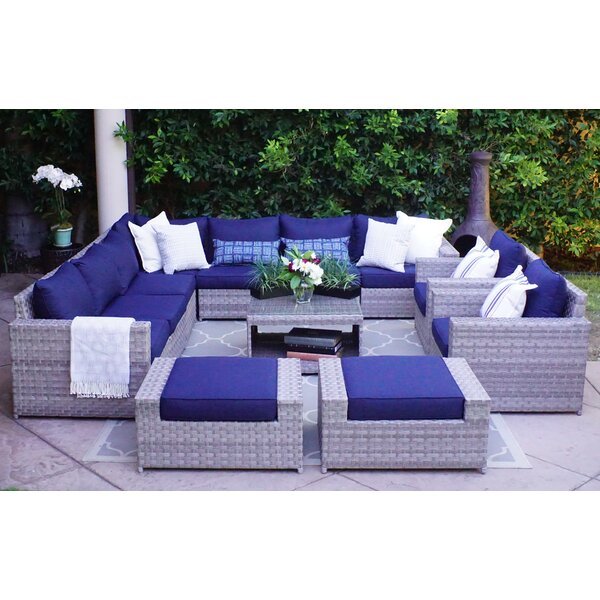 Kordell 12 Piece Sectional Set with Cushions by Sol 72 Outdoor
