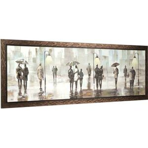 City Walk II by Anastasia Framed Painting on Wrapped Canvas by Hobbitholeco.