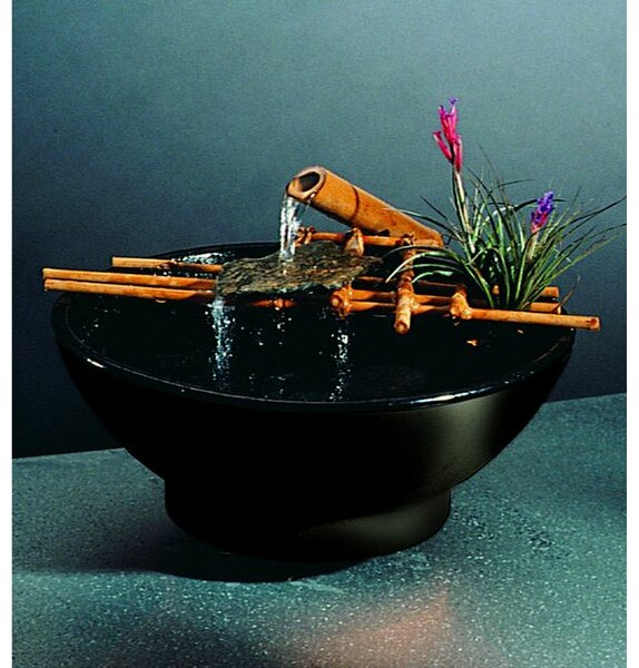 Ceramic Nature Bowl Medi Tabletop Fountain by Nayer Kazemi