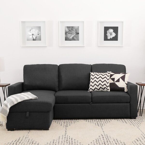 Maumelle Reversible Sleeper Sectional by Three Posts