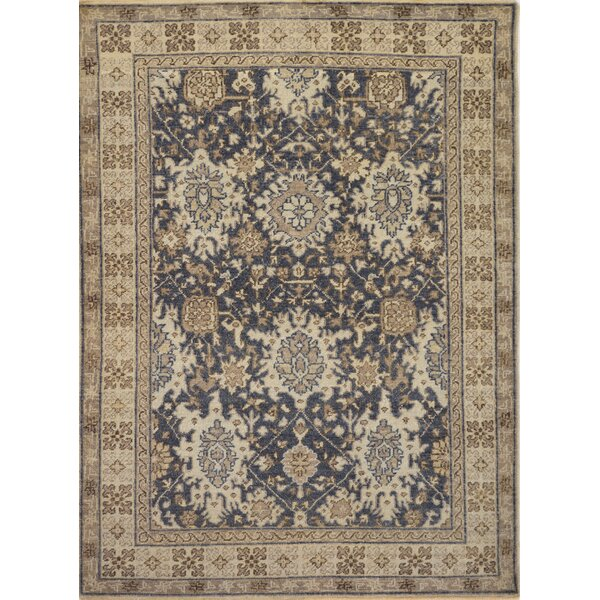 One-of-a-Kind Fine Karabagh Hand-Knotted Wool Black/Beige Indoor Area Rug by Mansour