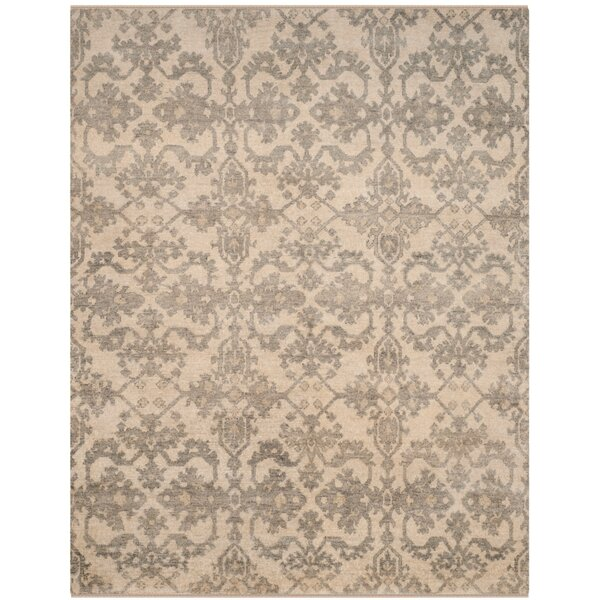 Brinwood Hand-Knotted Ivory/Gray Area Rug by Darby Home Co