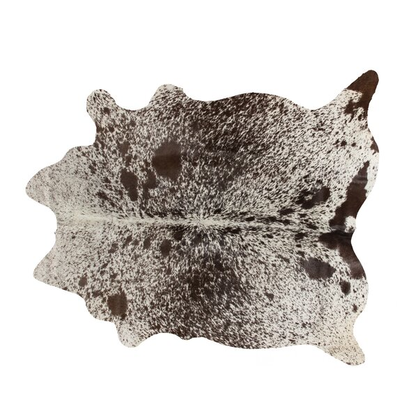 Dante Hand-Woven Cowhide Cream/Chocolate Area Rug by 17 Stories