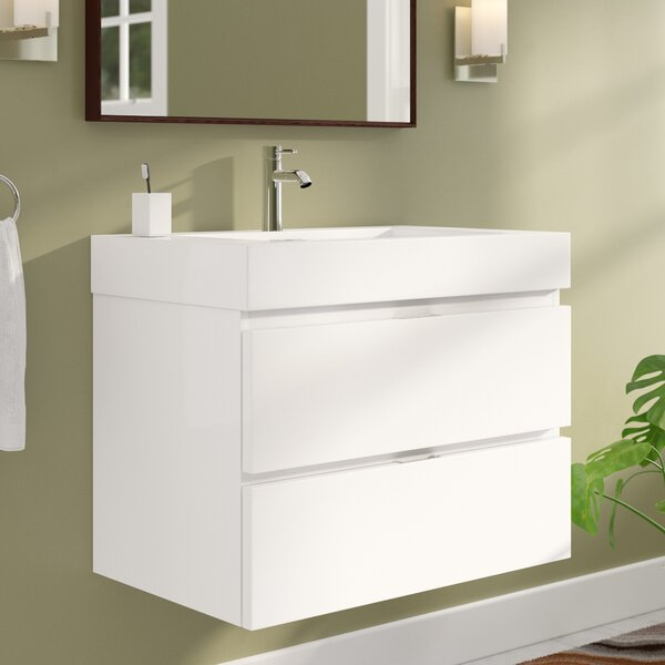 Tenafly 30 Single Wall Mounted Bathroom Vanity Set by Wade Logan