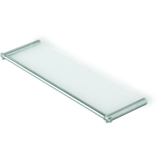 Solberg Wall Mounting Tempered Glass Wall Shelf with Rails by Orren Ellis