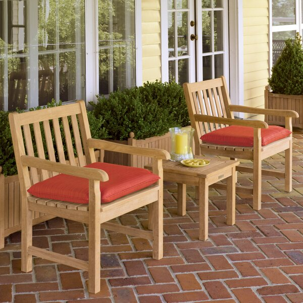 Myres 3 Piece Sunbrella Conversation Set with Cushions by Beachcrest Home