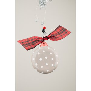 Joy Snowman Puff Ball Ornament