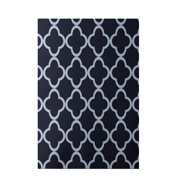 Marrakech Express Geometric Print Navy Indoor/Outdoor Area Rug by e by design