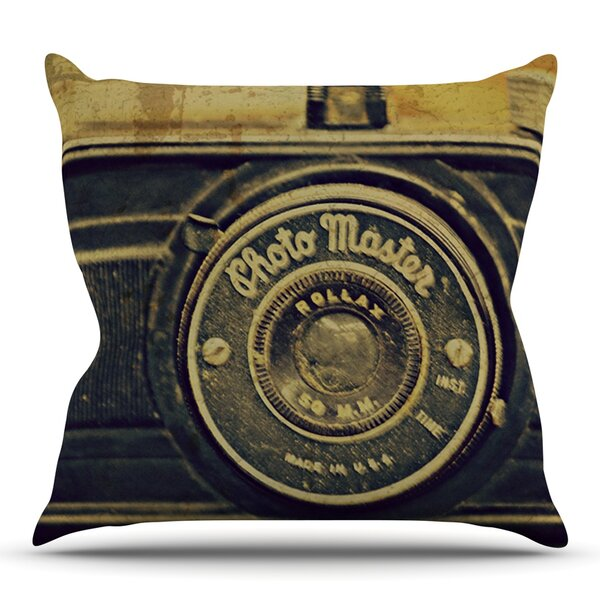 Discarded Treasure by Robin Dickinson Outdoor Throw Pillow by East Urban Home
