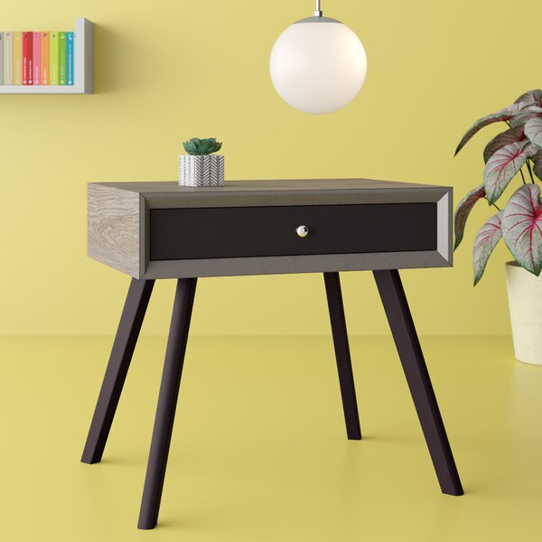 Cecillia End Table with Storage by Hashtag Home