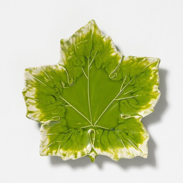 Reactive Leaves Decorative Plate by VIETRI