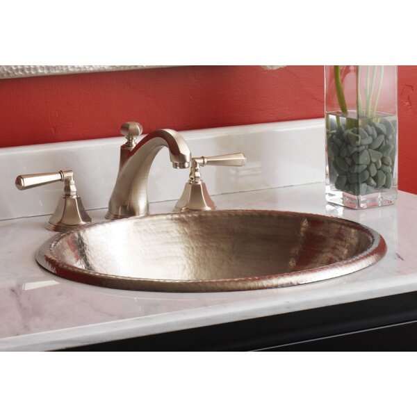 Rolled Metal Oval Drop-In Bathroom Sink by Native Trails, Inc.