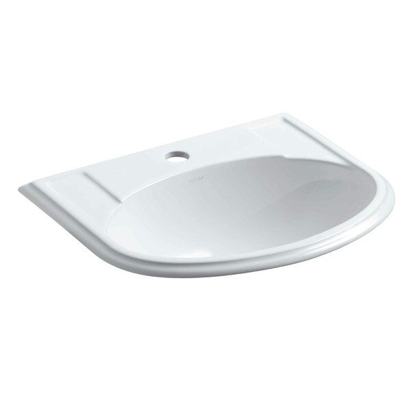 Devonshire Ceramic U-Shaped Drop-In Bathroom Sink with Overflow by Kohler
