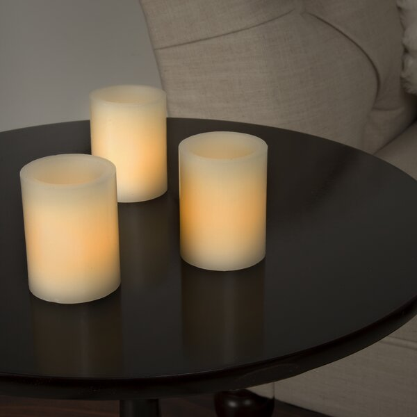Vanilla Flameless Candle (Set of 8) by Three Posts