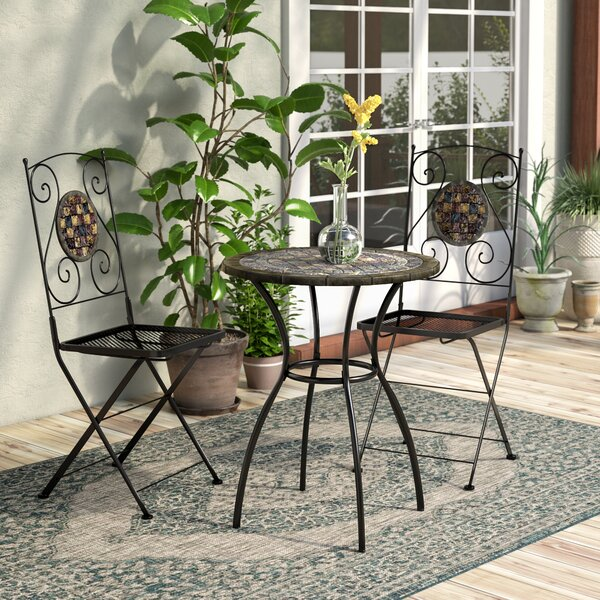 Marian 3 Piece Bistro Set by Bungalow Rose