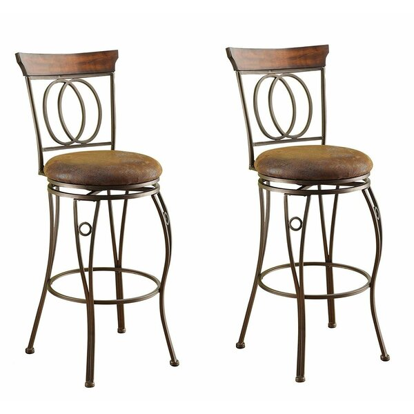 Trujillo 29 Swivel Bar Stool (Set of 2) by Fleur De Lis Living