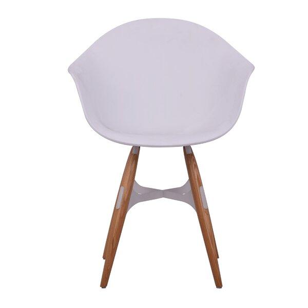 Tena Zigzag Solid Wood Arm Chair By Ivy Bronx