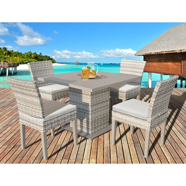 Waterbury 5 Piece Dining Set with Cushions by Sol 72 Outdoor