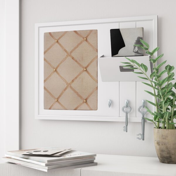 Home Organizer Wall Mounted Pin Board by Rebrilliant