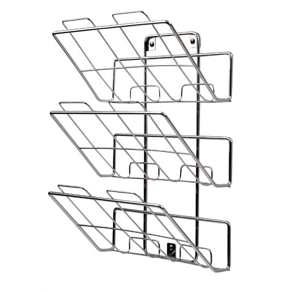 3-Tier Wall-Mount File Holder with Screws in Chrome by Spectrum Diversified