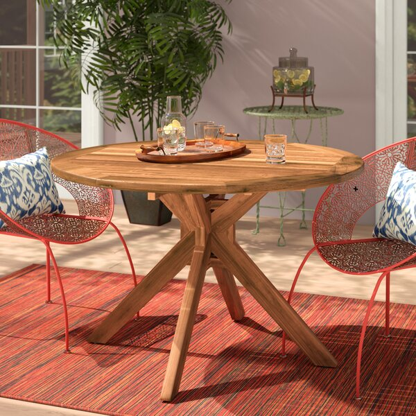 Kaylie Wood Round Dining Table by Mistana