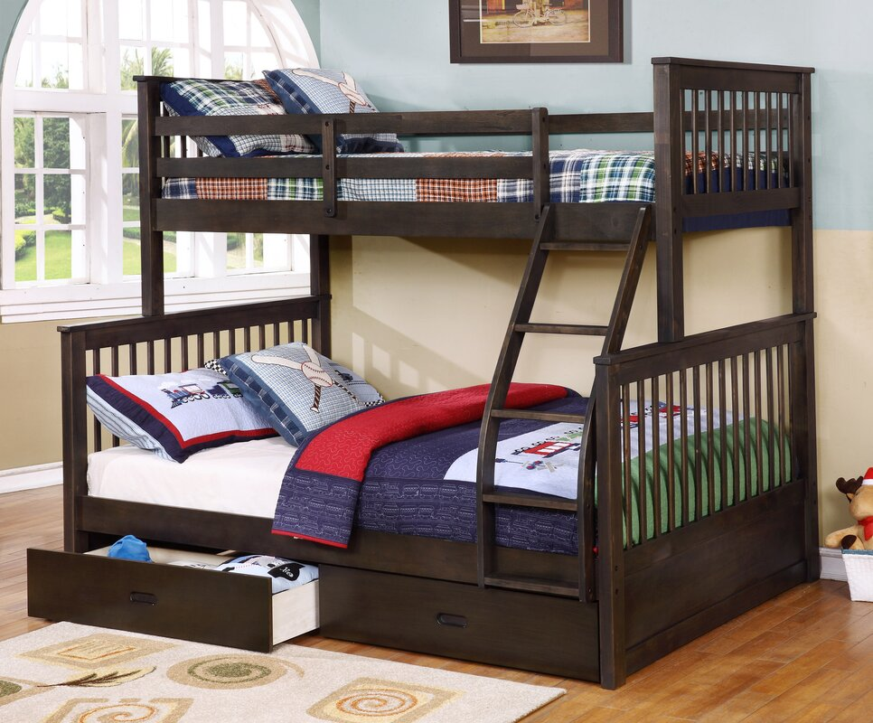 Wildon home walter twin over full bunk bed reviews for Room design 2 twin beds